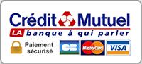 Paiement par carte bancaire sécurisé par le Crédit Mutuel
