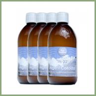 Pack Economique Argent Colloïdal 4 bouteilles de 500ml en 23ppm