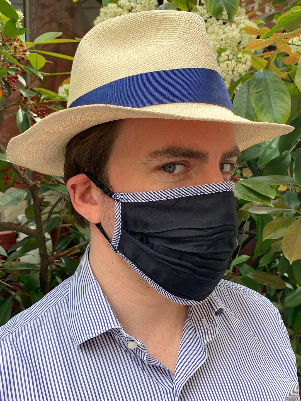 Masque de Protection Bleu nuit Gansé Rayé Bleu homme
