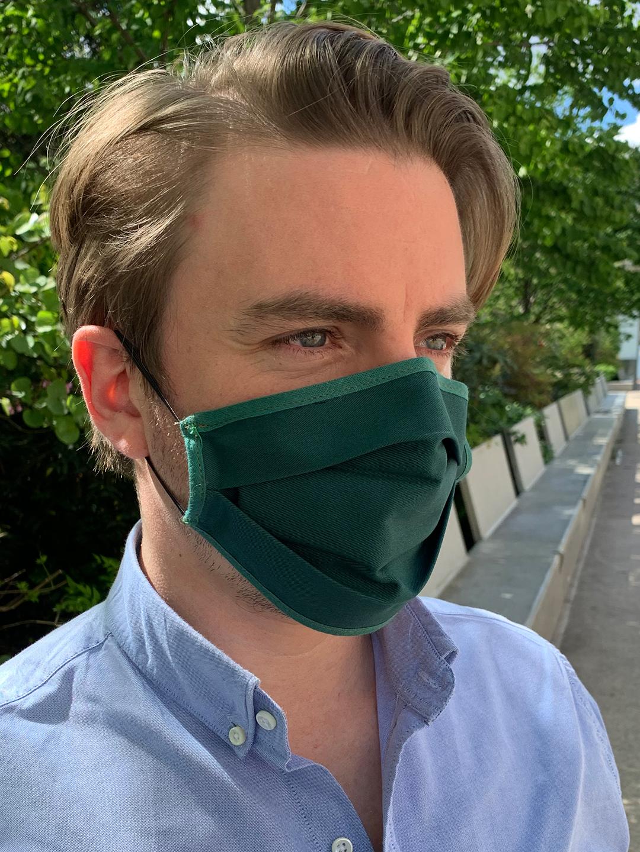 Masque de Protection Recto Vert Emeraude homme