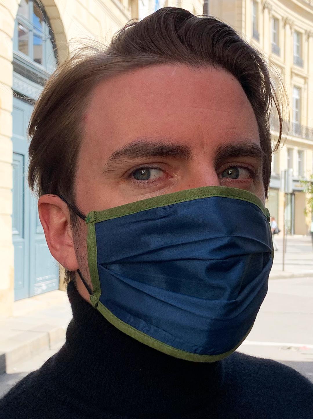 Masque de Protection Verso Bleu-Roi Homme