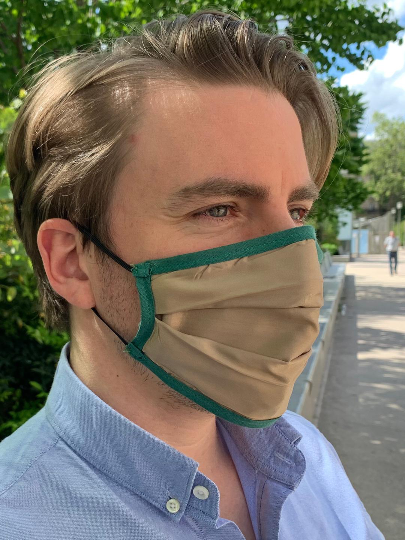 Masque de Protection Verso Caramel (Gansé Vert) Homme