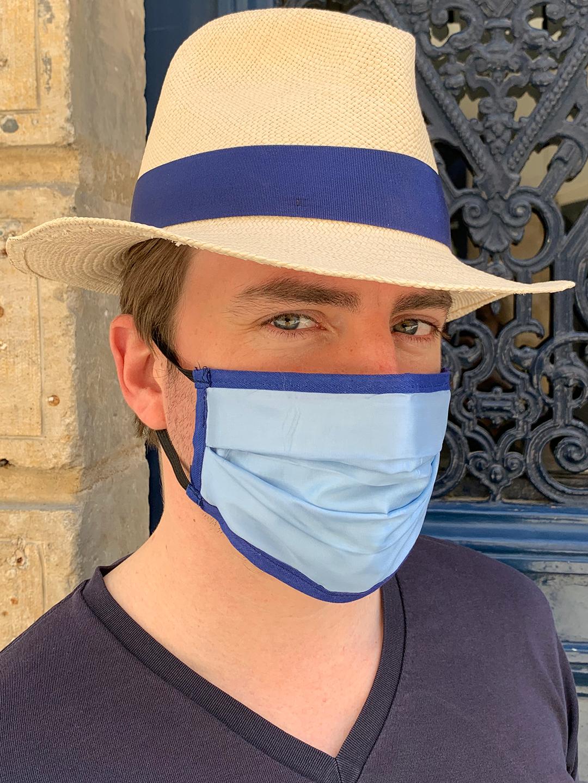 Masque de Protection Verso Bleu Ciel Homme