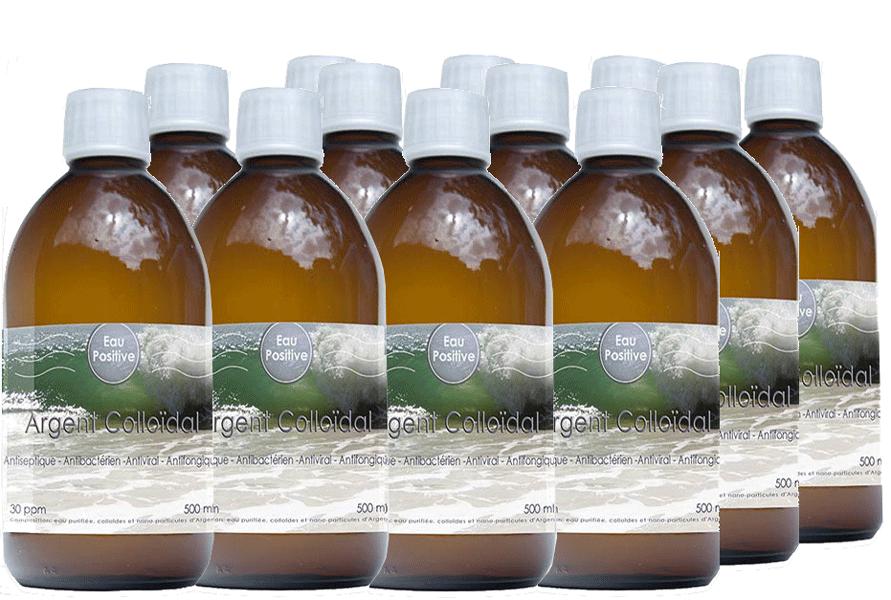 Pack Super-Eco de 12 bouteilles d'Argent Colloïdal
