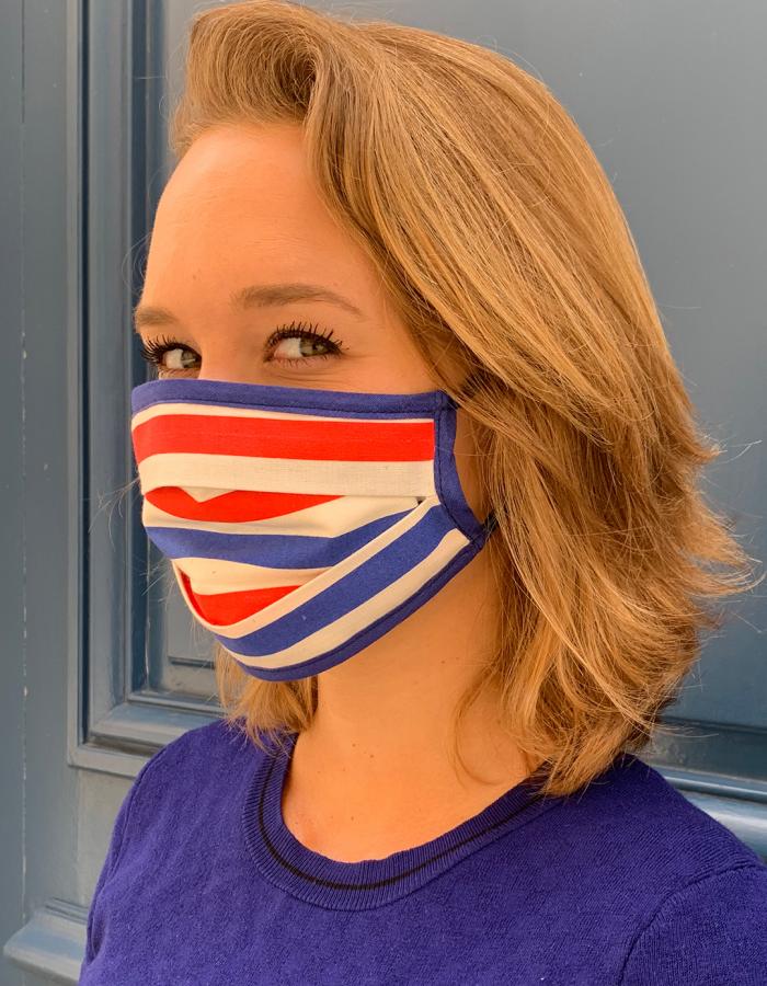 Masque de Protection  Tricolore Femme