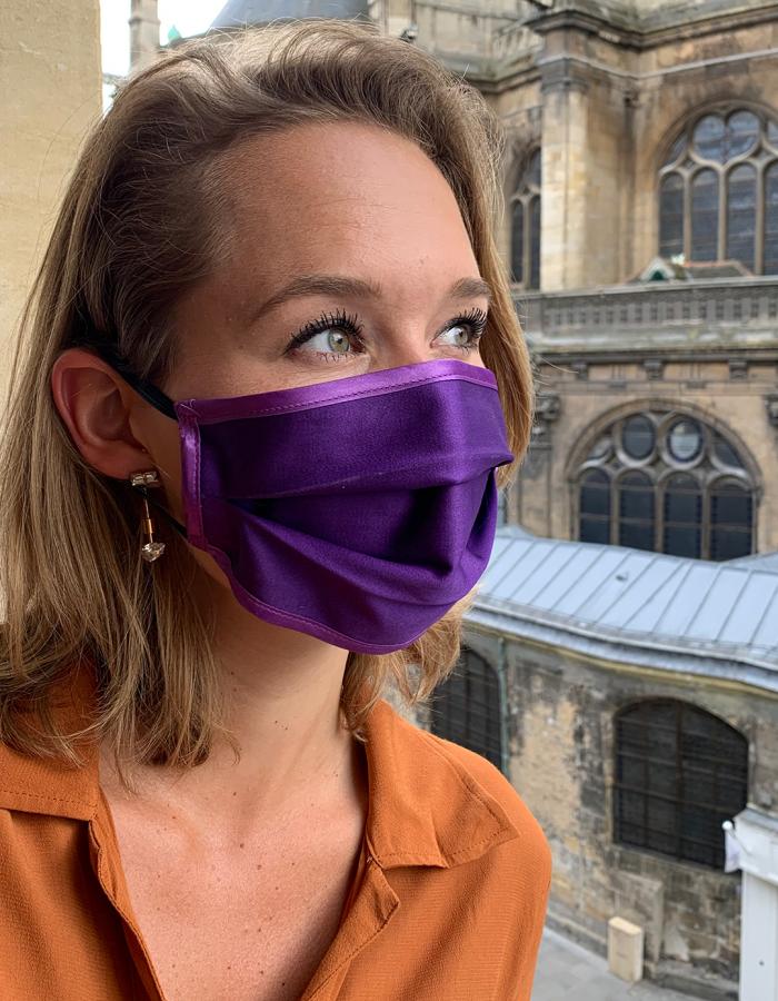 Masque de Protection Recto Violet Femme