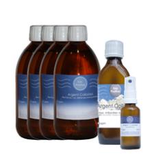 Paquete Económico Extra Plata coloidal 15 ppm + Frasco 23 ppm + Spray